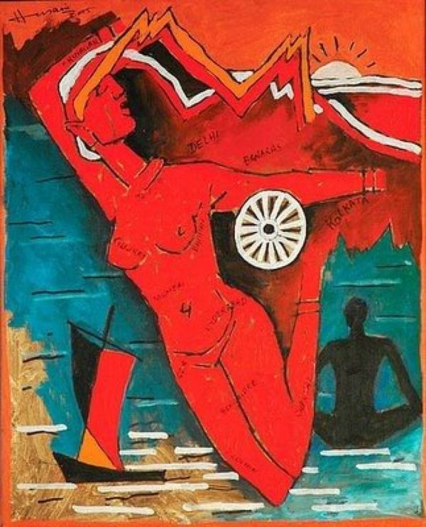 Husain's Paintings are not being forced on anyone, so what's the big do?